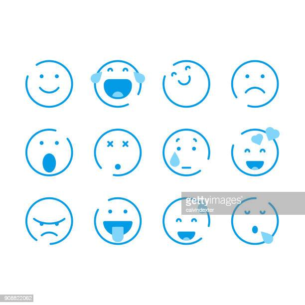 basic emoticons - smiling stock illustrations