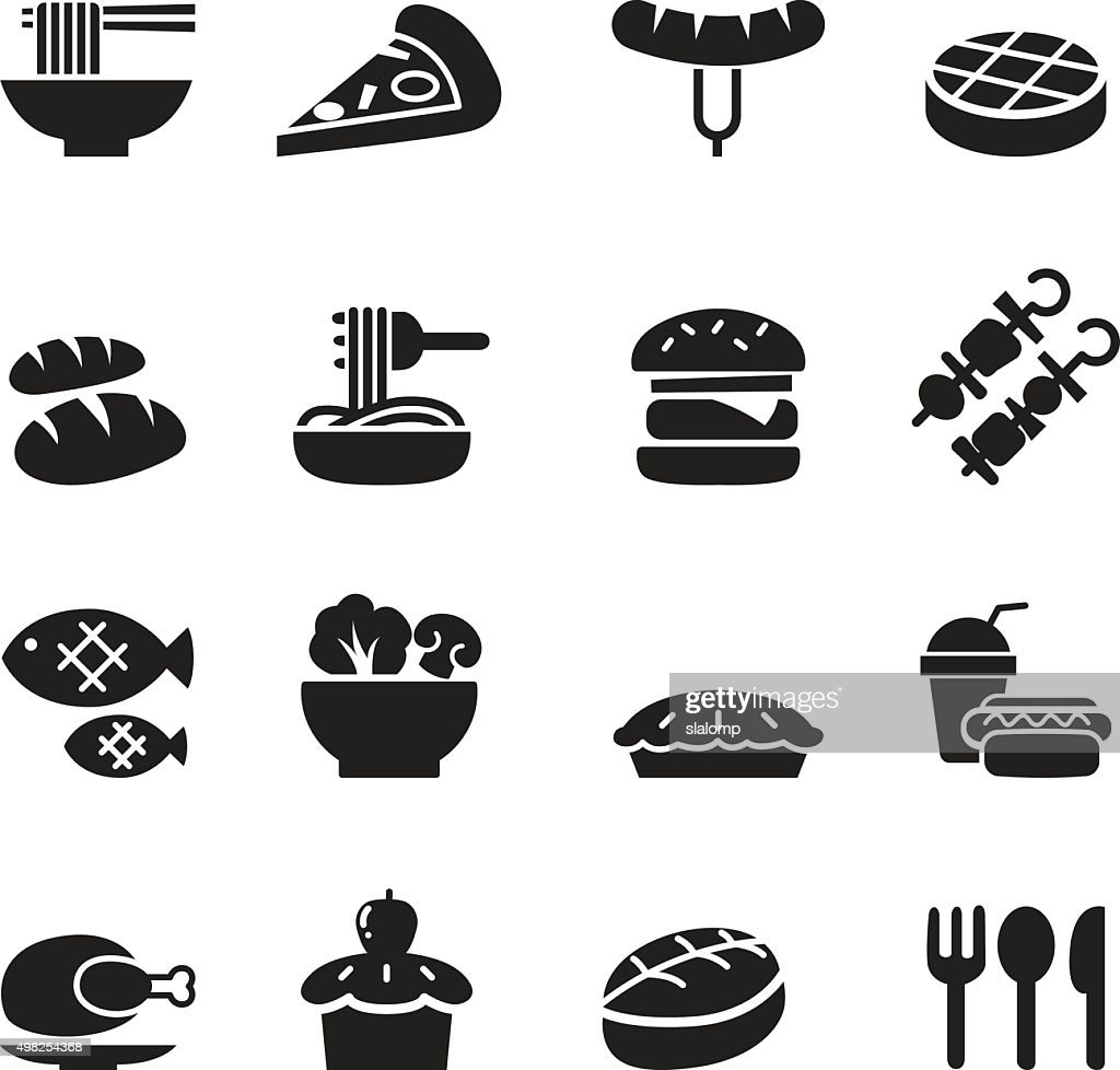 Basic Food and Drink icons set