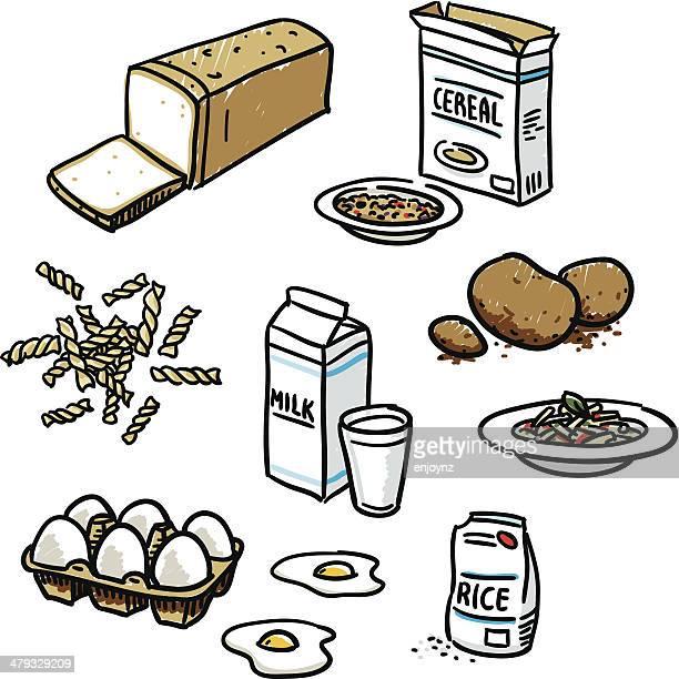 Basic food sketches