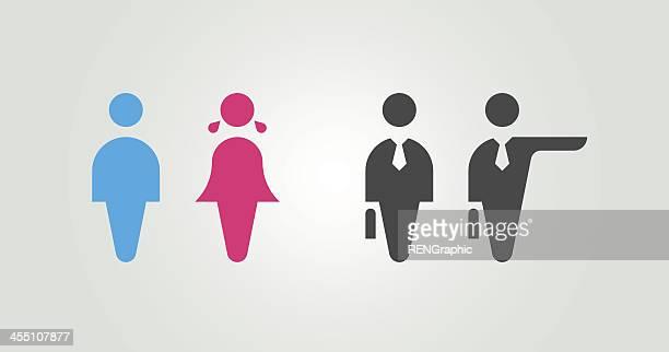 basic human image - bathroom stock illustrations, clip art, cartoons, & icons