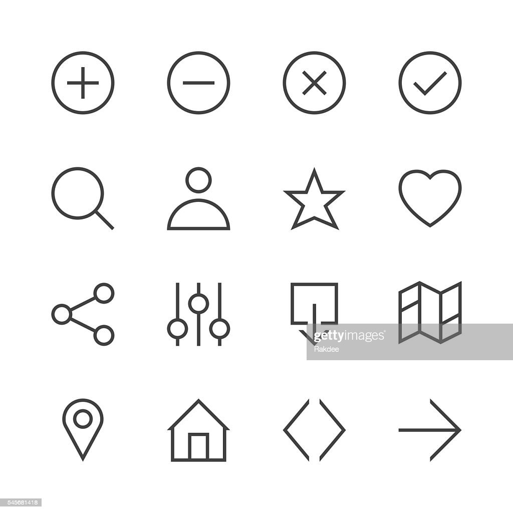 Basic Icon Set 1 - Line Series