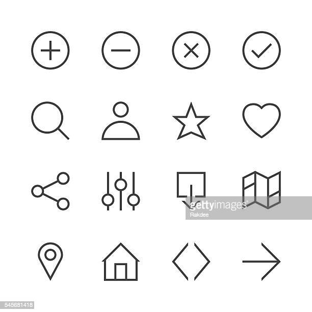 basic icon set 1 - line series - searching stock illustrations, clip art, cartoons, & icons