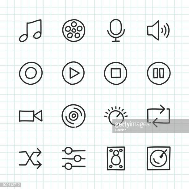 Basic Icon Set 5 - Hand Drawn Series