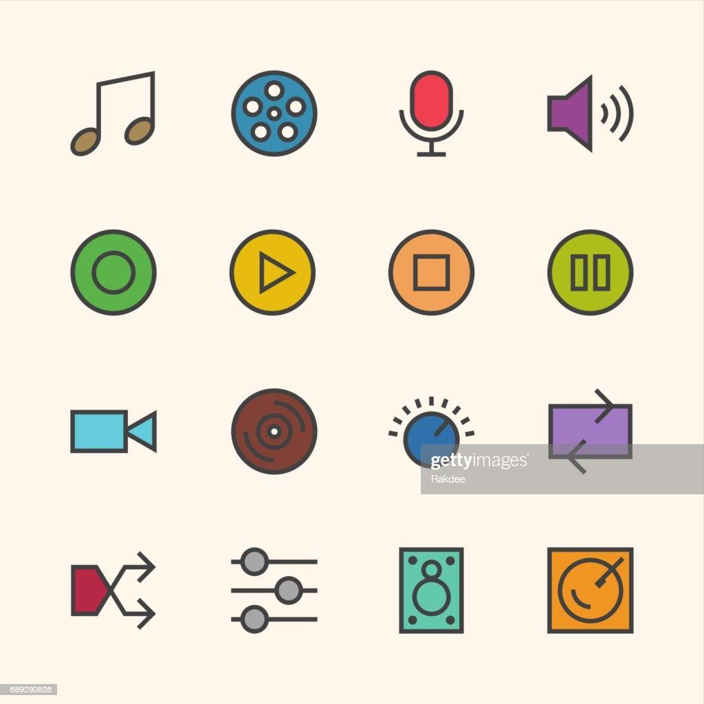 Basic Icon Set 5 - Outline Series : Stock Illustration