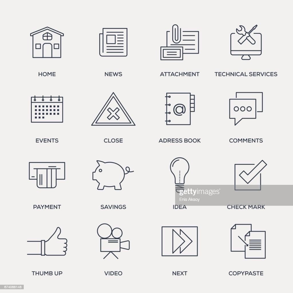Basic Icons - Line Series