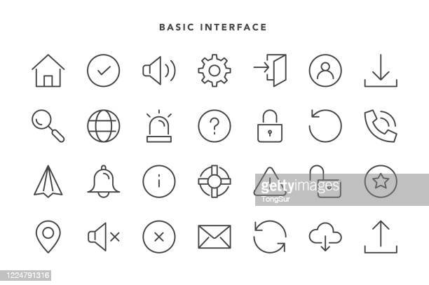 基本的なインターフェイス アイコン - 通知アイコン点のイラスト素材/クリップアート素材/マンガ素材/アイコン素材
