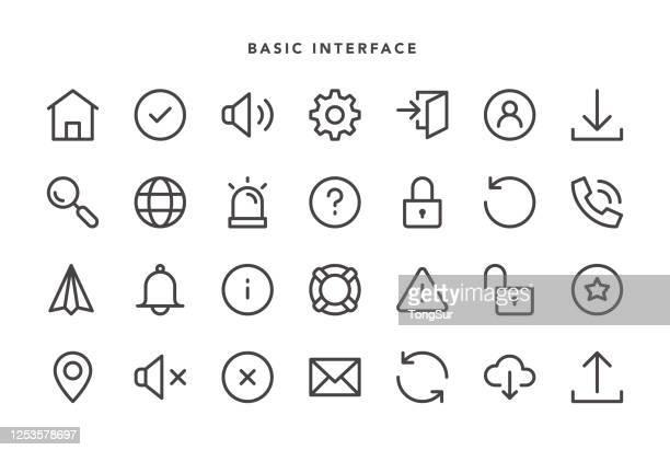 basic interface icons - alertness stock illustrations
