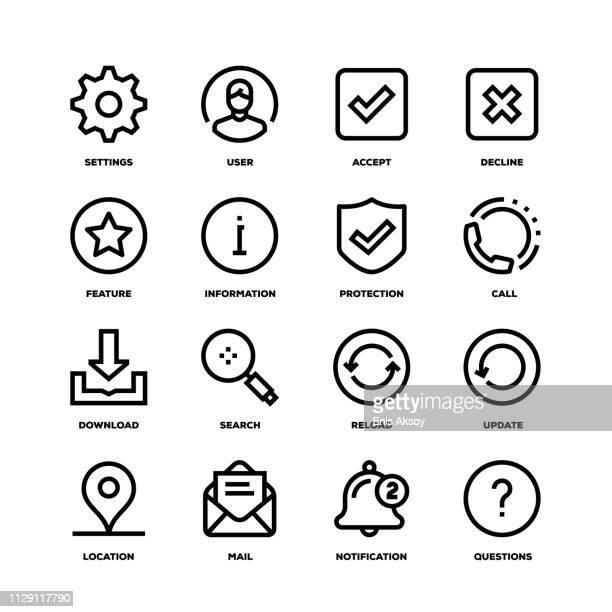 基本的なインタ フェース ライン アイコン - ログオン点のイラスト素材/クリップアート素材/マンガ素材/アイコン素材