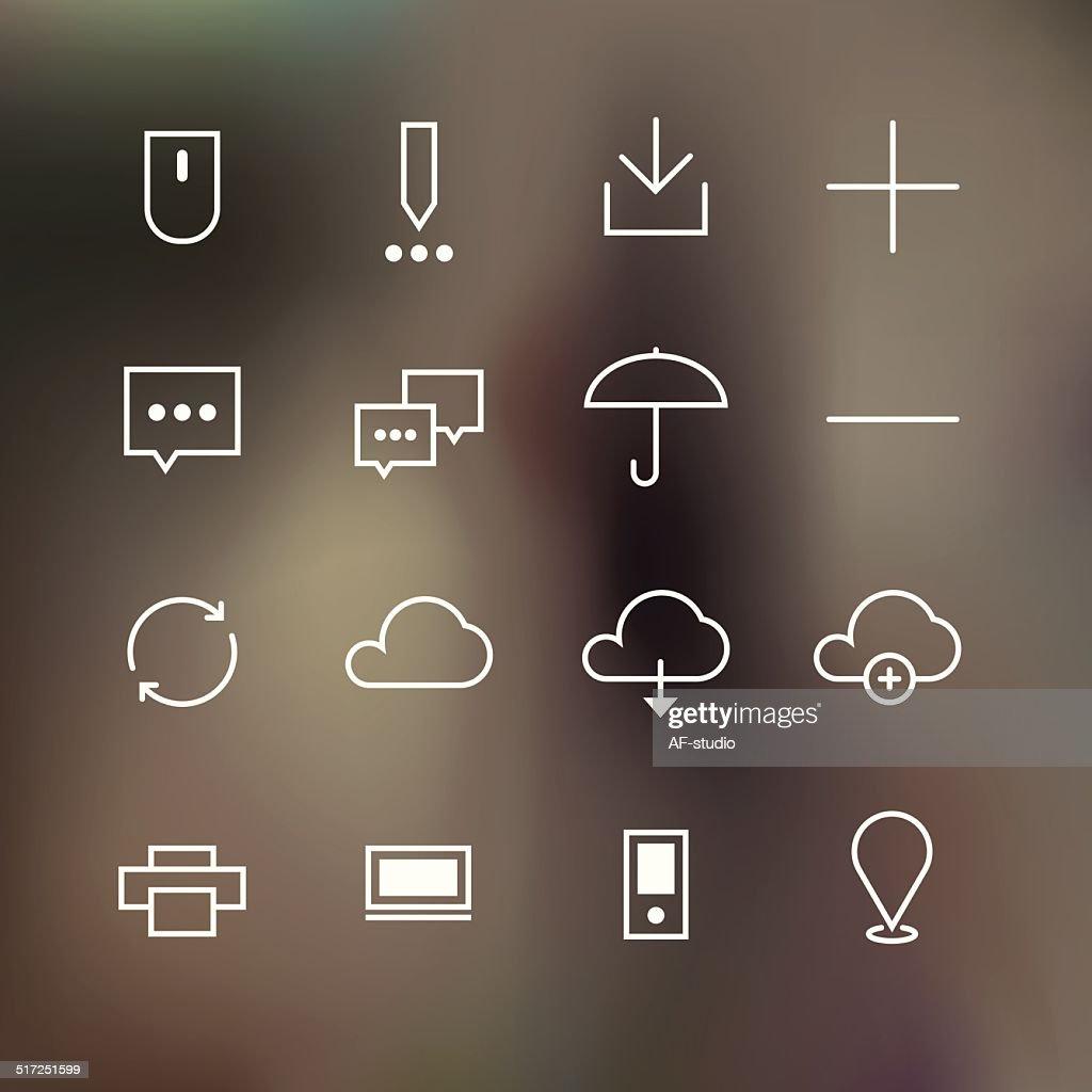 Basic line icon set