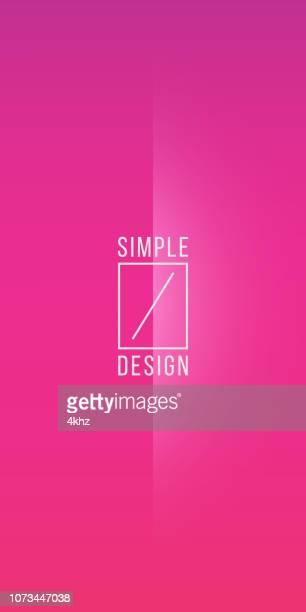 basic magenta to red minimal crease line pattern vector background - pink background stock illustrations, clip art, cartoons, & icons