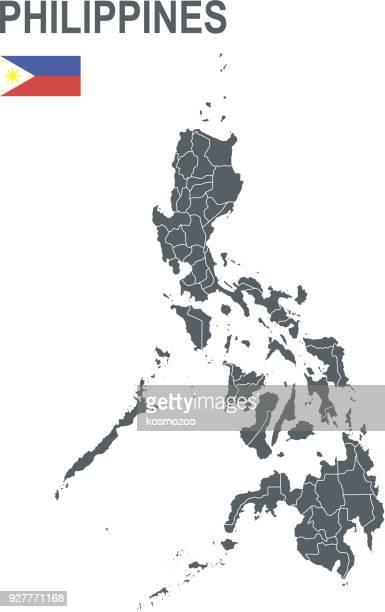 Einfache Karte von Philippinen einschließlich Grenzlinien