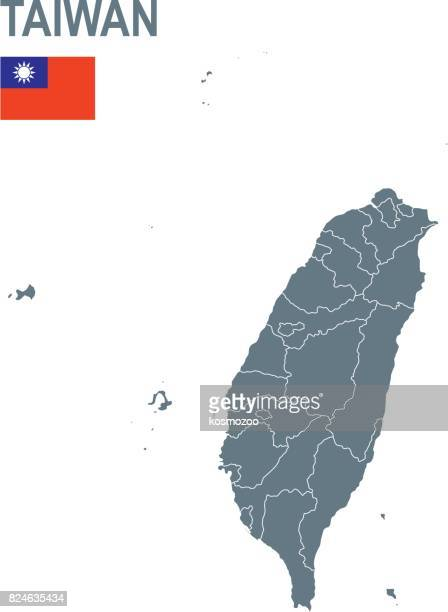 Basic map of Taiwan including boundary lines