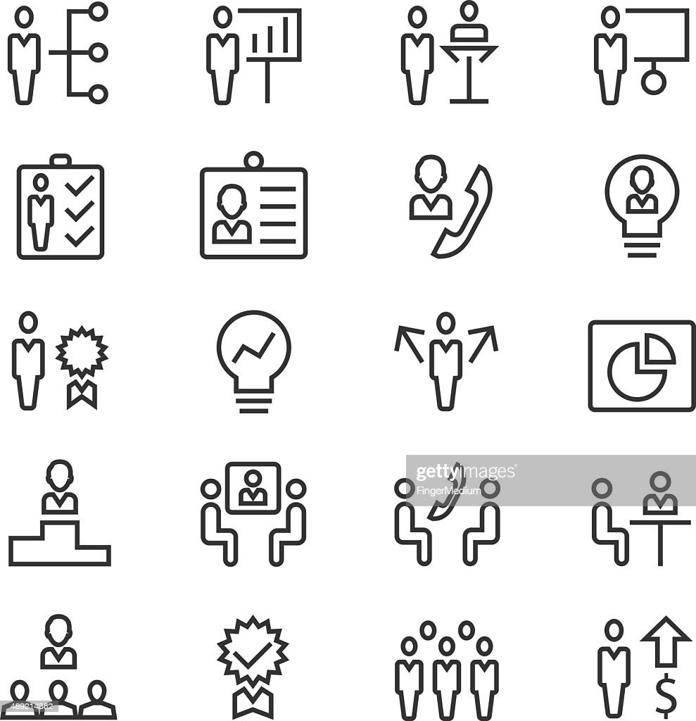 Basic RGBHuman resources and management icons set