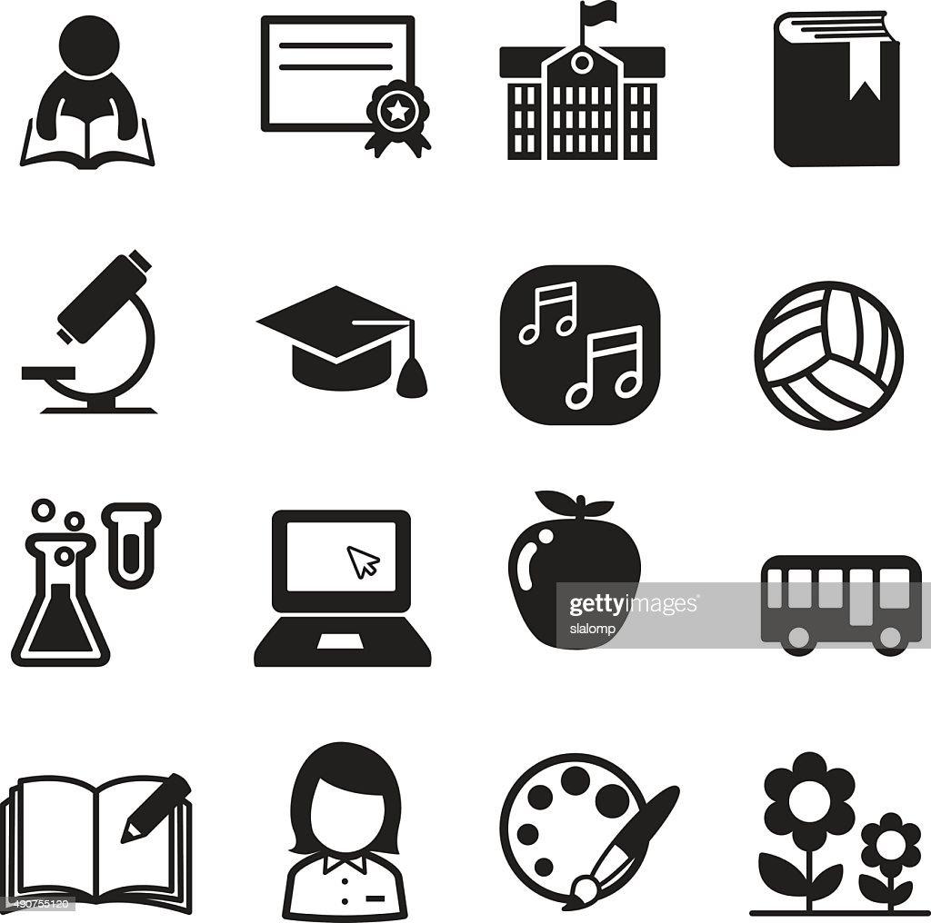 Basic School icon set
