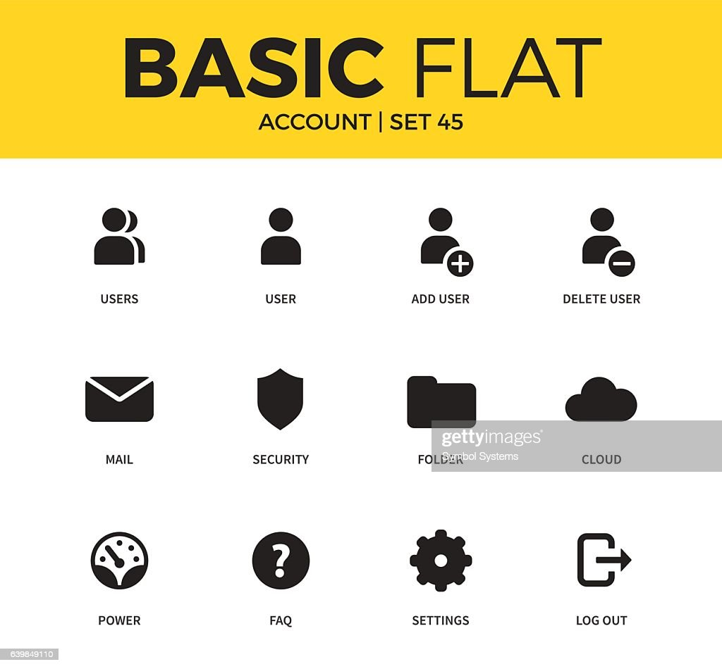 Basic set of Account icons