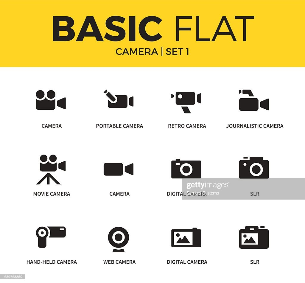 Basic set of Camera icons