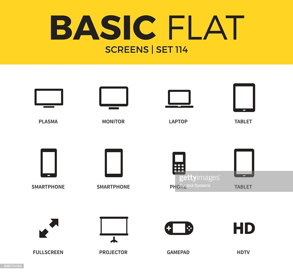 Basic set of Device screen icons