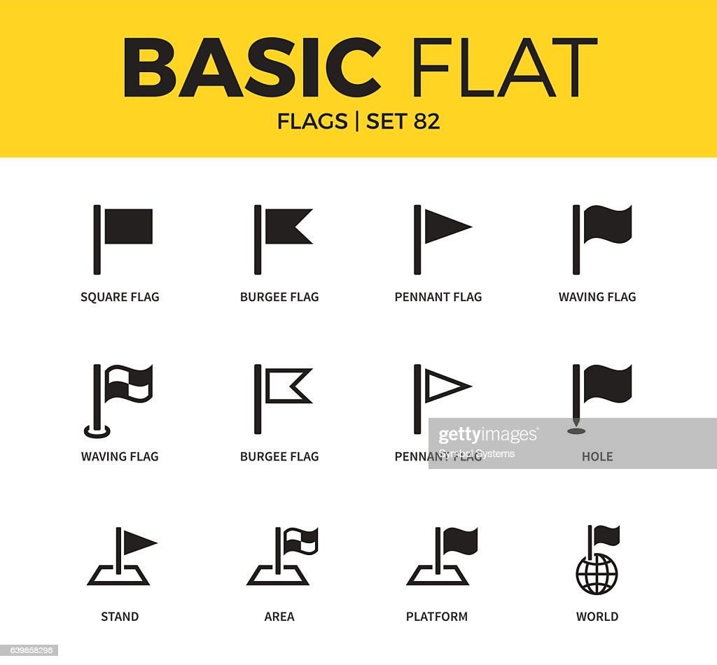 Basic set of flags icons