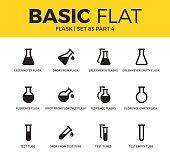 Basic set of flask icons