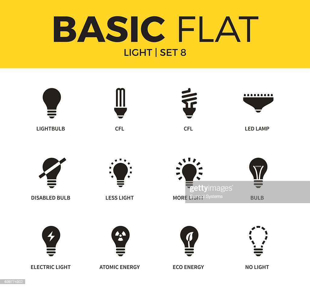Basic set of light icons