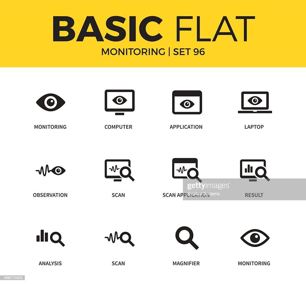 Basic set of Monitoring icons