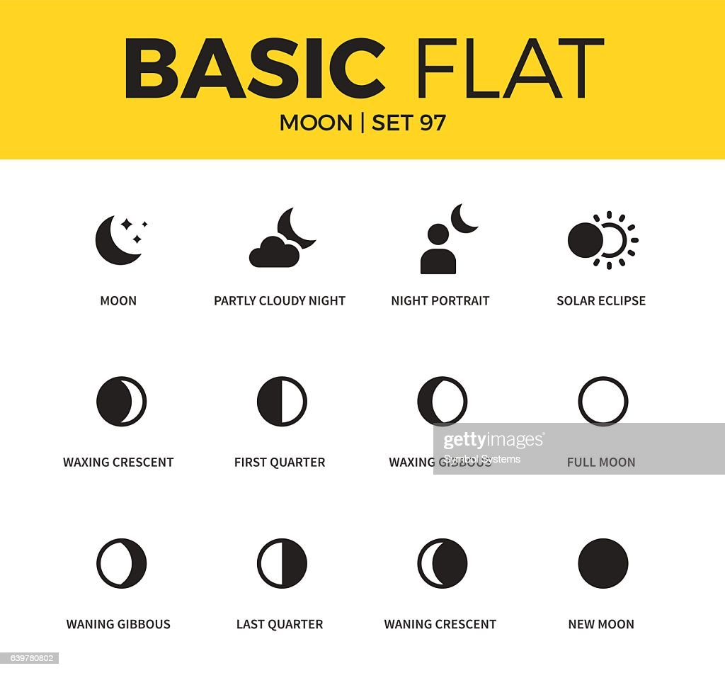 Basic set of moon icons