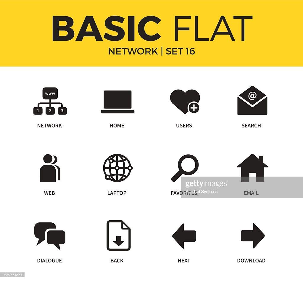 Basic set of Network icons