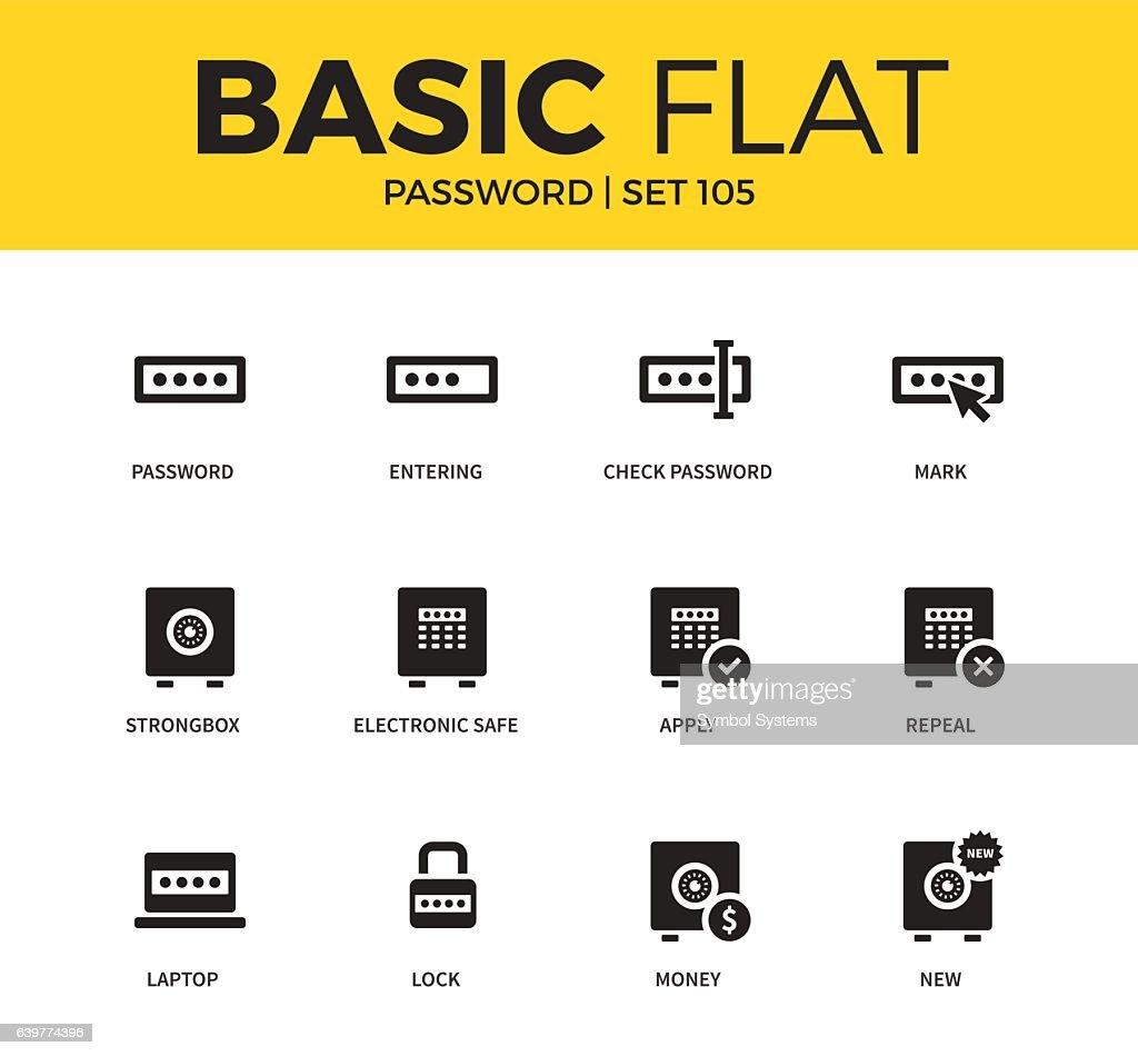 Basic set of Password icons