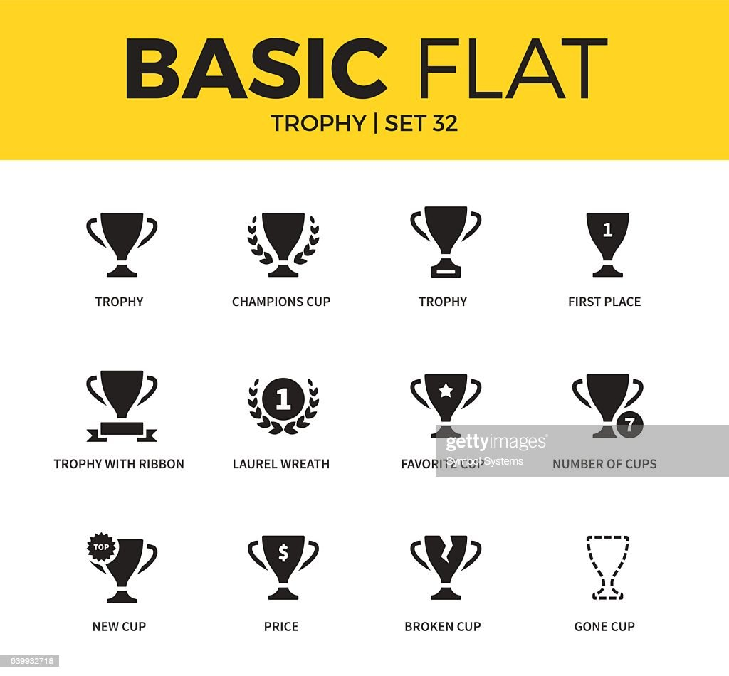 Basic set of Trophy icons