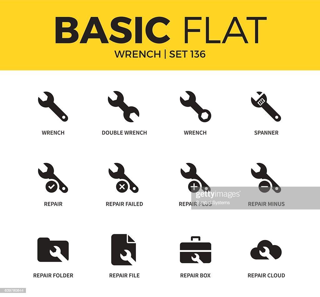 Basic set of Wrench icons