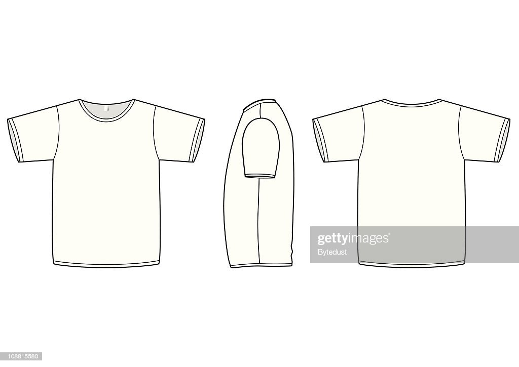 Basic Unisex Tshirtvorlage Vektorillustration Vektorgrafik   Getty ...