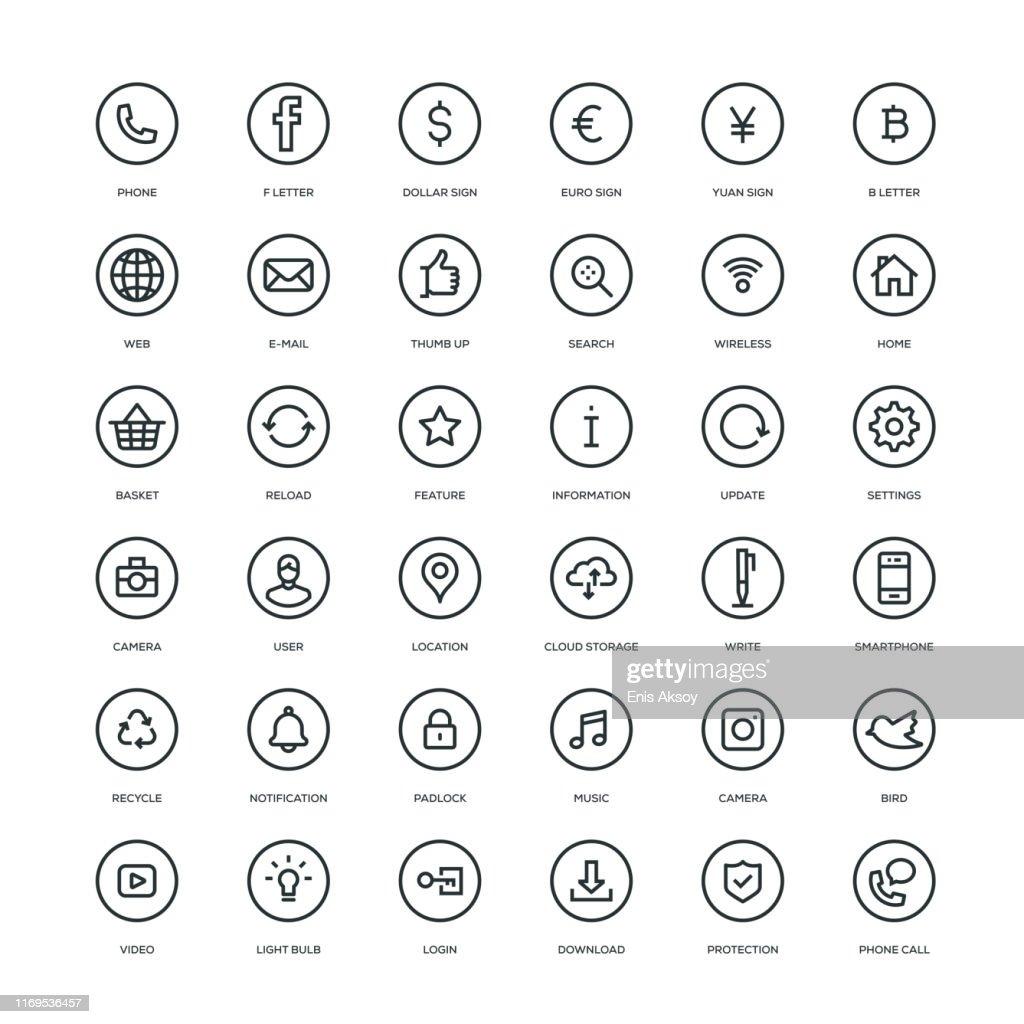 Eenvoudige Webpictogrammen : Stockillustraties