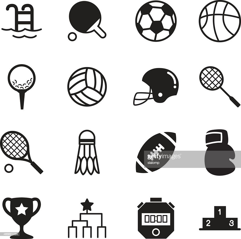 Basics Sports silhouette Icons Vector symbol