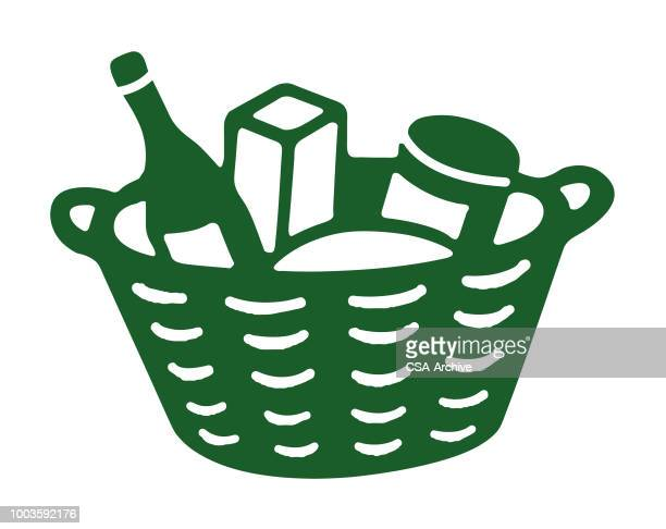 339 Picnic Basket High Res Illustrations Getty Images