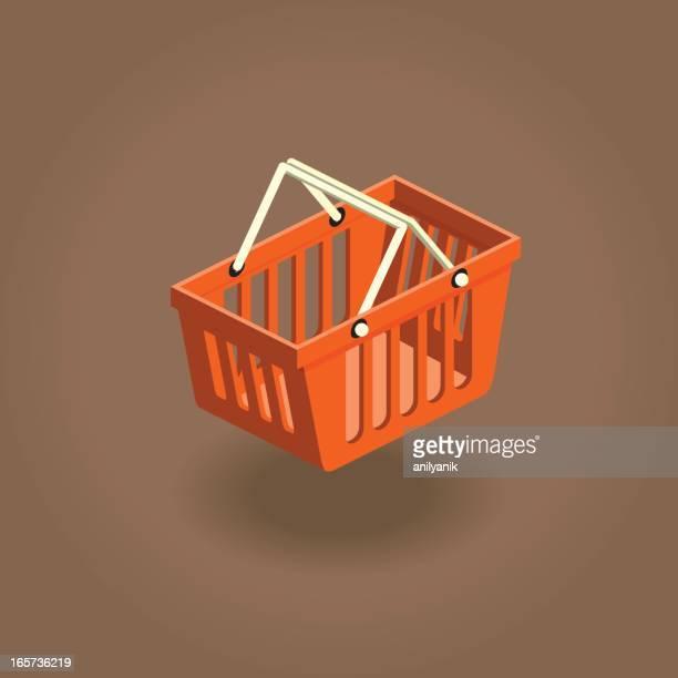 basket - basket stock illustrations, clip art, cartoons, & icons