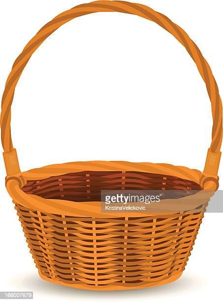 basket - easter basket stock illustrations