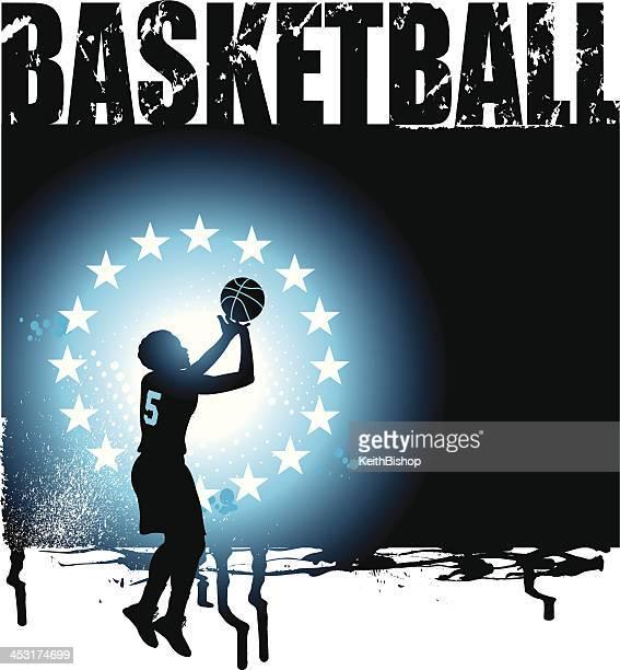 Basketball All-Star Grunge Graphic - Girls