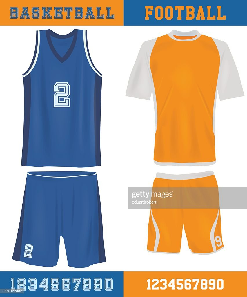 Basketball and football equipment