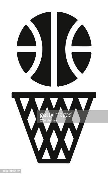 ilustraciones, imágenes clip art, dibujos animados e iconos de stock de canchas de básquetbol y hoop - canasta de baloncesto