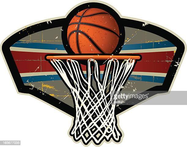 Cresta de básquetbol y Net