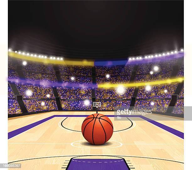 illustrations, cliparts, dessins animés et icônes de salle de basket - ballon de basket
