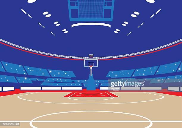 ilustraciones, imágenes clip art, dibujos animados e iconos de stock de basketball arena - cancha de baloncesto