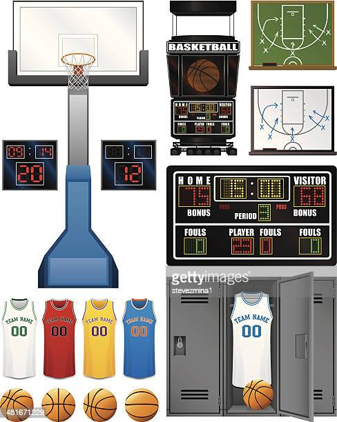 basketball assortment - scoring stock illustrations