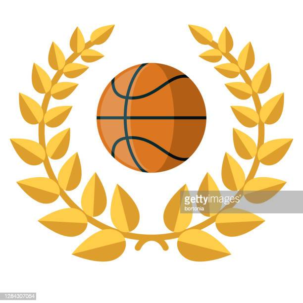 basketball award icon on transparent background - gold medalist stock illustrations
