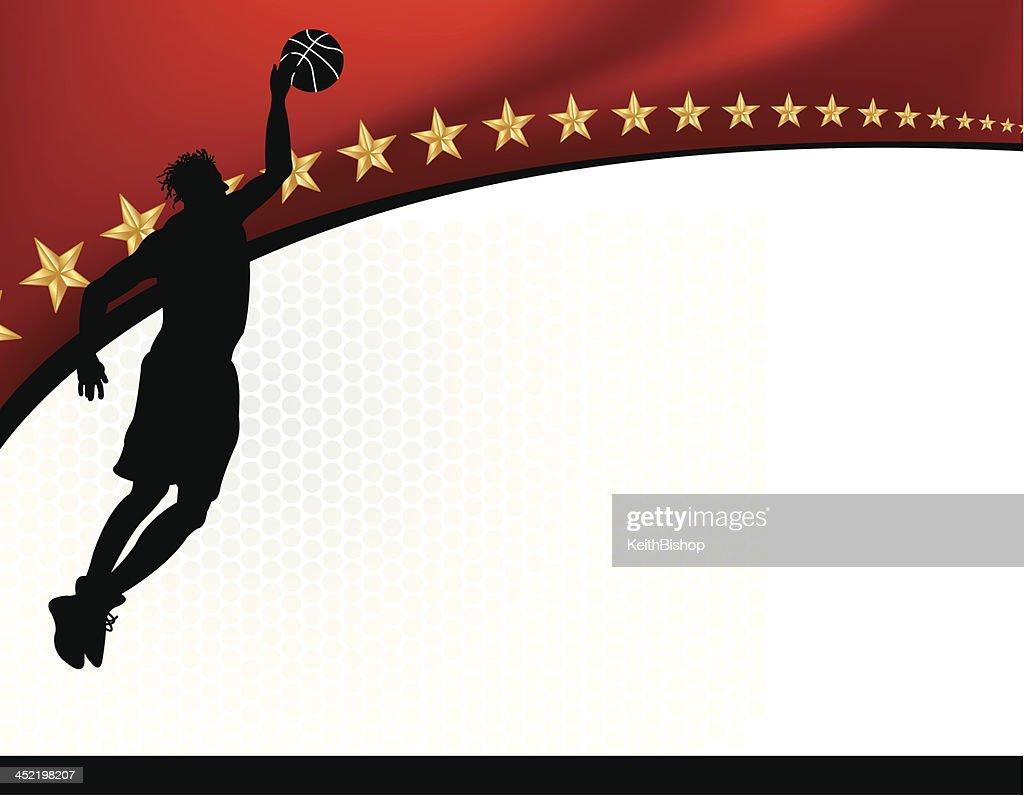 Basketball Background - Male Athlete Dunking : stock illustration