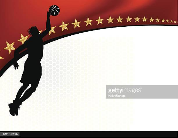 Basketball Background - Male Athlete Dunking