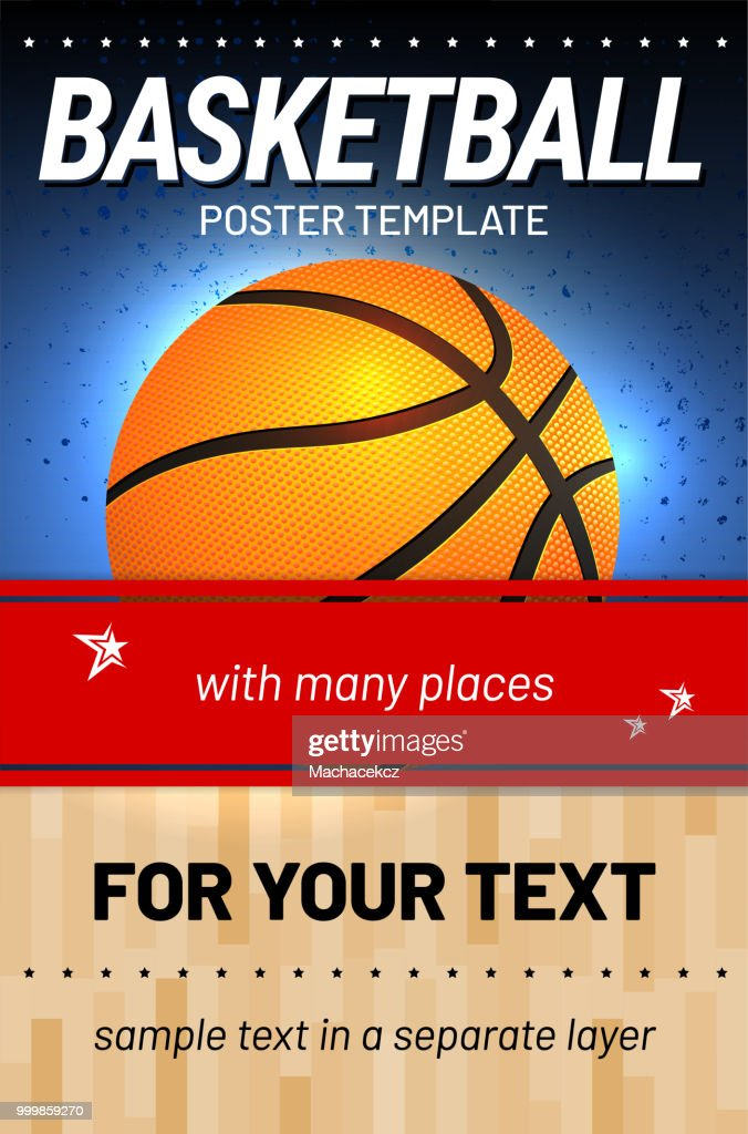 Basketball background - template for your sport design