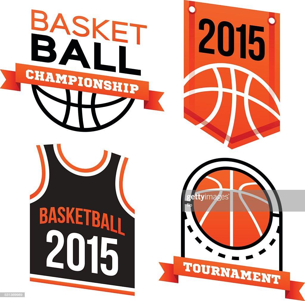 Basketball Badges and Symbols