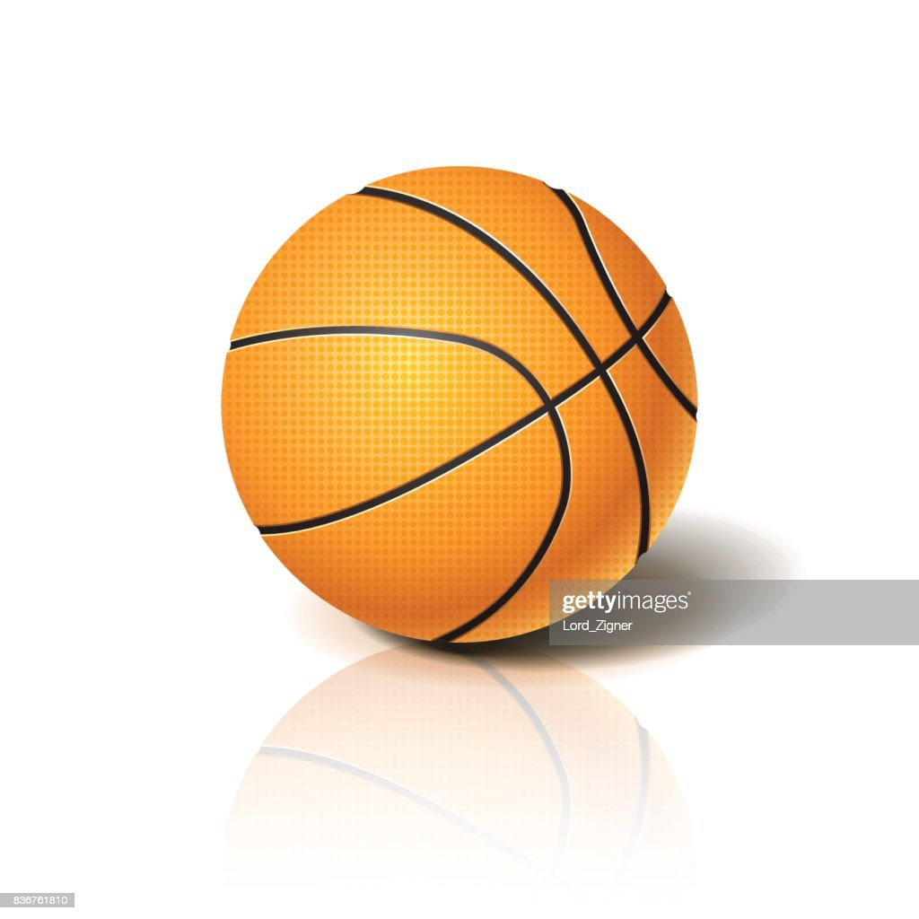 Basketball ball 3D imitation. For your business project. Vector Illustration