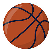 Basketball Ball. Sport Supplies Icon and Logo. Isolated design element. Vector illustration